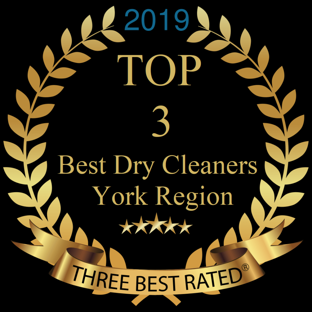Winner 2019 top 3 dry cleaners in Newmarket